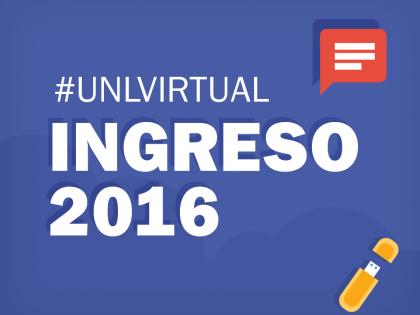 Ingreso 2016:  Inscripciones abiertas a las propuestas de formación del Programa de Educación a Distancia UNLVirtual