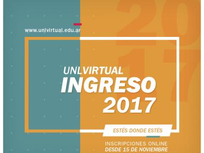 Ingreso 2017: Inscripciones abiertas a las propuestas del Programa de Educación a Distancia UNLVirtual