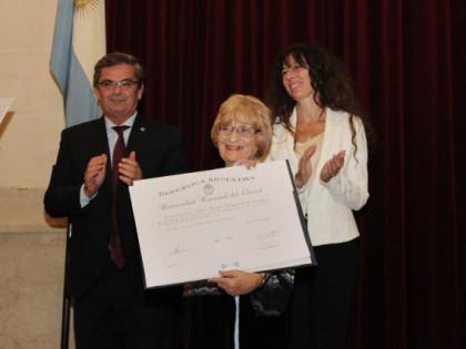 Alicia Camilloni recibió el título de Doctora Honoris Causa de UNL