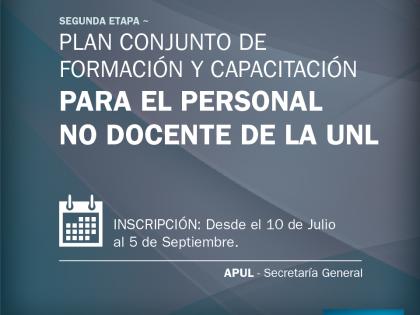 Actividades de capacitación de APUL y Secretaría General de la UNL (2ª Etapa 2017): Inscripciones abiertas