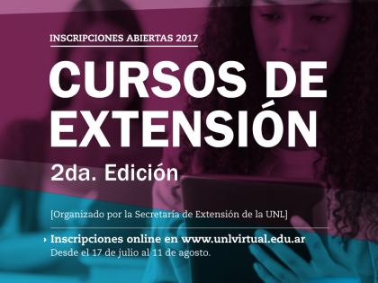 Inscripciones a los Cursos de Extensión a distancia de la UNL – 2ª Etapa 2017