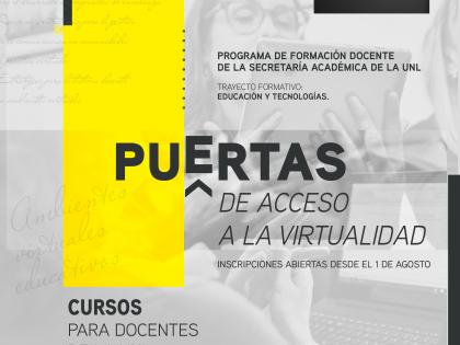"""""""Puertas de acceso a la Virtualidad"""": Inscripciones abiertas"""