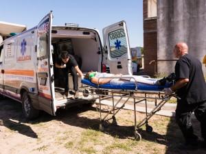 La FCM realizó un simulacro de emergencia en altura