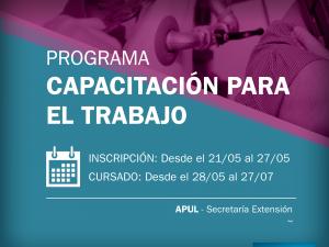 Abre la inscripción a los Cursos de Capacitación de APUL – Secretaría de Extensión (1ª etapa 2018)