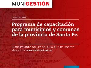 MUNIGESTIÓN: Programa de Capacitación para Municipios y Comunas de la provincia de Santa Fe