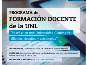 UNL lanza el 2º módulo del Programa de Formación Docente