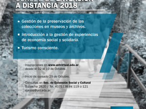 Inscripciones a los Cursos de Extensión a Distancia de la UNL – 2018
