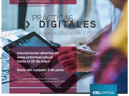 """Inscripciones abiertas a los microtalleres para docentes:  """"Prácticas Digitales para la Educación Superior"""""""