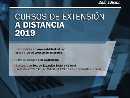 Inscripciones a la segunda etapa de los Cursos de Extensión a Distancia de la UNL – 2019