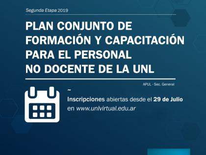 Inscripciones abiertas a la 2ª etapa del Programa de Capacitación de APUL y Secretaría General de la UNL