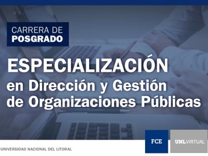 Abre la inscripción a la segunda cohorte de la «Especialización en Dirección y Gestión de Organizaciones Públicas»
