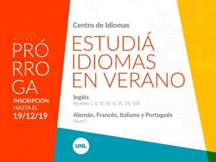 El Centro de Idiomas UNL extiende el periodo de inscripción a los Cursos de Verano 2020