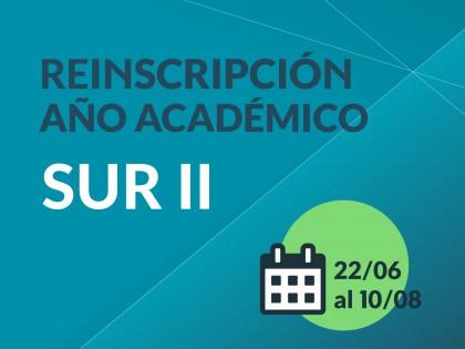 Se encuentra abierta la reinscripción al año académico (Sur II)