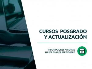 Inscripciones abiertas 2da edición: Cursos de Actualización y Posgrado FCJS