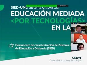 Educación mediada por tecnologías en la UNL: taller sobre SIED