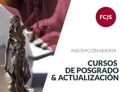 Inscripciones abiertas a los Cursos de Posgrado y Actualización de Jurídicas
