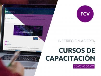 Se encuentra abierta las inscripción a los Cursos de Capacitación de la FCV